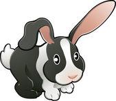 Illustration vectorielle mignon lapin adorable — Vecteur