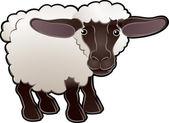 Oveja bonita ilustración vectorial animales de la granja — Vector de stock