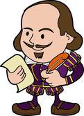 Illustration of Shakespeare — Stock Vector