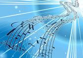 Vector Sheet music background — Stock Vector