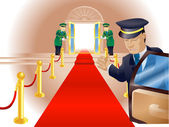 VIP Red Carpet Treatment — Stockvector