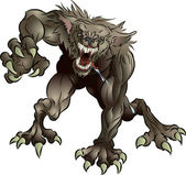 Snarling Scary Werewolf — Stock Vector