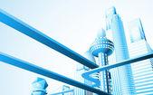 Futuristic cityscape — Stock Vector