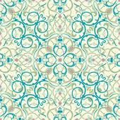 Middle eastern inspired seamless tile design — Stock Vector