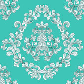Seamless tiling floral wallpaper pattern — Stock Vector