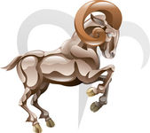 Aries the ram star sign — Stock Vector