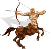 Sagittarius the archer star sign — Stock Vector