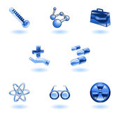 Shiny Medical Icons — Stock Vector