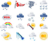 Weather forecast icons — Stockvector