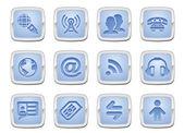 Communication icon set — Stock Vector