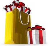 Prezent torba końcowe i prezenty — Wektor stockowy