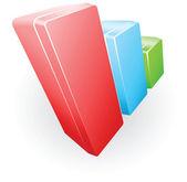 Ilustración gráfica de barras — Vector de stock