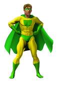 Amazing Superhero Illustration — Stock Vector