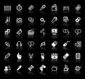 Internet media application icon set — Stock Vector