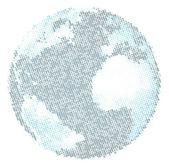 The binary world — Stock Vector
