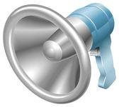 Bullhorn megaphone loudspeaker loudhailer — Stockvector