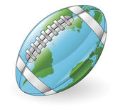 World globe football ball concept — Stock Vector