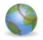 World globe baseball ball concept — Stock Vector