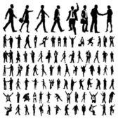 Sehr viele hochwertige business silhouetten — Stockvektor