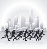 Cityscape runners — Stock Vector