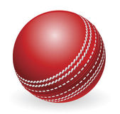 Shiny red traditional cricket ball — Vector de stock