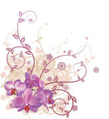 Cool orchid floral background — Stock Vector