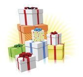 Pile of presents concept — Stock Vector