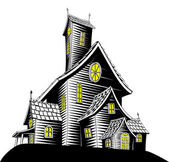 Scary haunted house illustration — Stock Vector