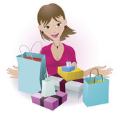 Happy Shopper — Stock Vector