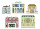 Luxury old fashioned houses buildings — Stock Vector