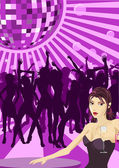 Ladys night illustration — Stock Vector