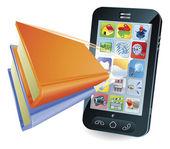 Smartphone book concept — Stock Vector