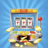 Slot fruit machine winning — Cтоковый вектор