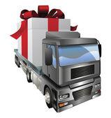 Gift truck concept — Stock Vector