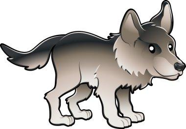 Cute wolf clipart