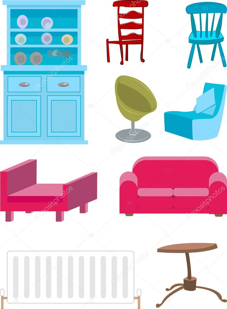 A selection of furniture.  — Stock Vector #6574956
