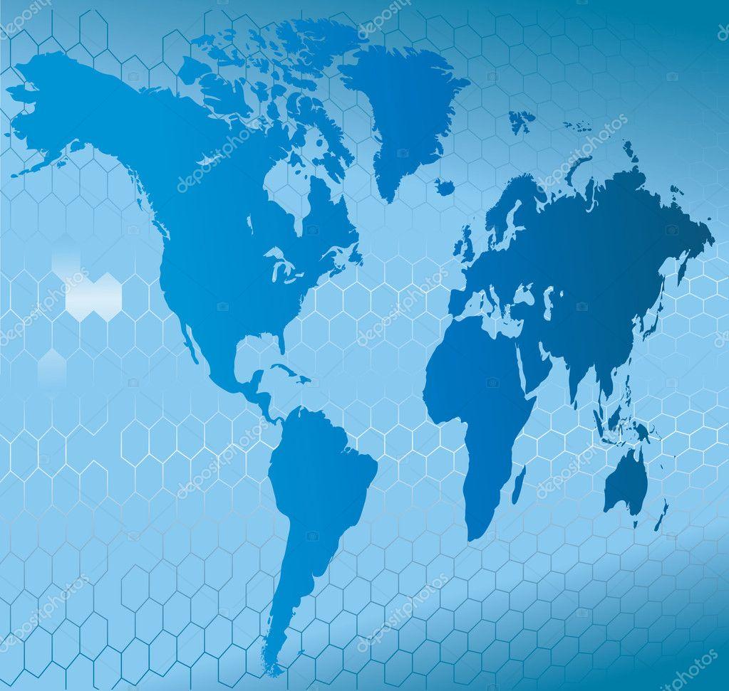 3d 世界地图与背景