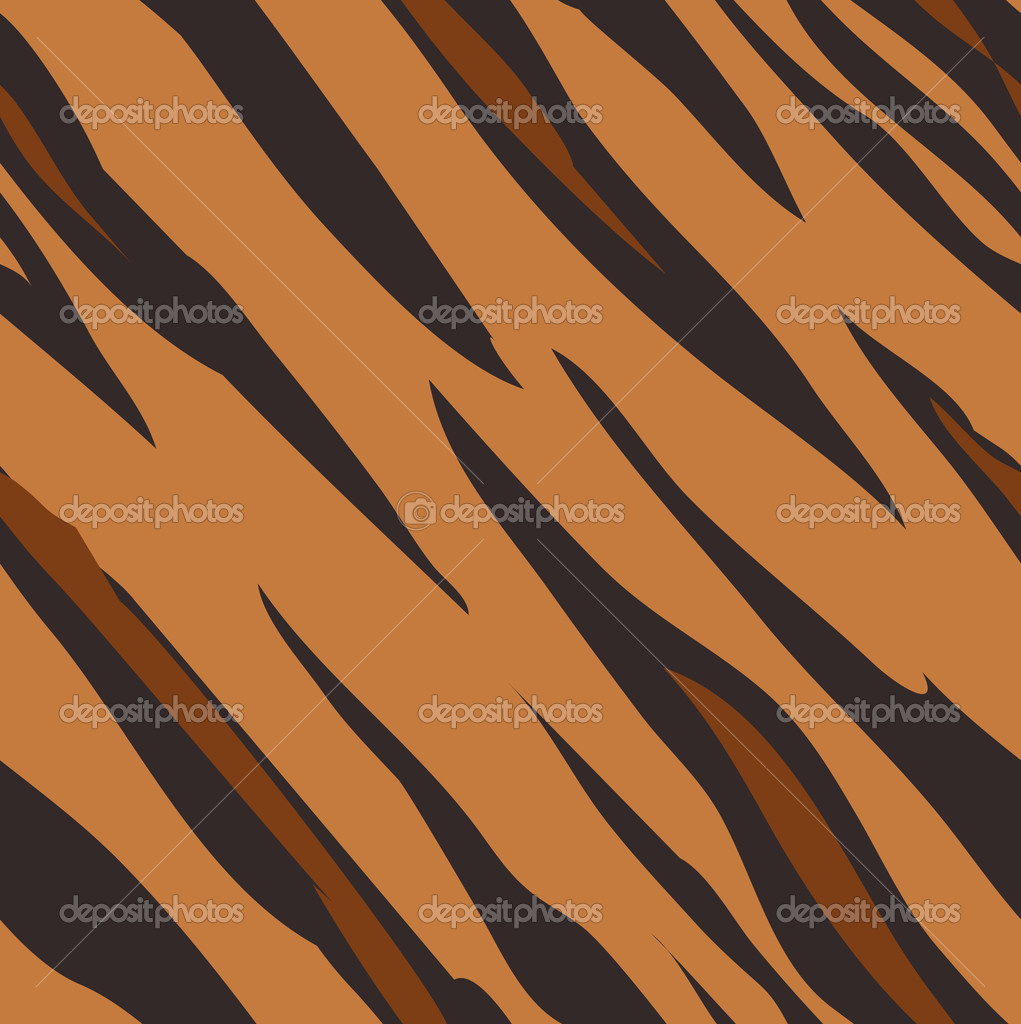 Seamless tiling tiger skin animal print pattern. Created especially to look at their best when tiled.  Stock Vector #6576477