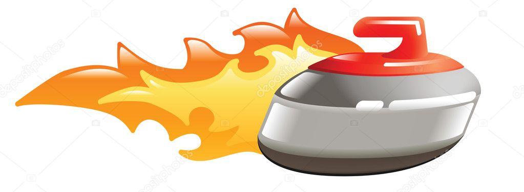 flaming curling stone stock vector  u00a9 krisdog 6577697 PNG Vectors Graphics Download Vintage Vector Art