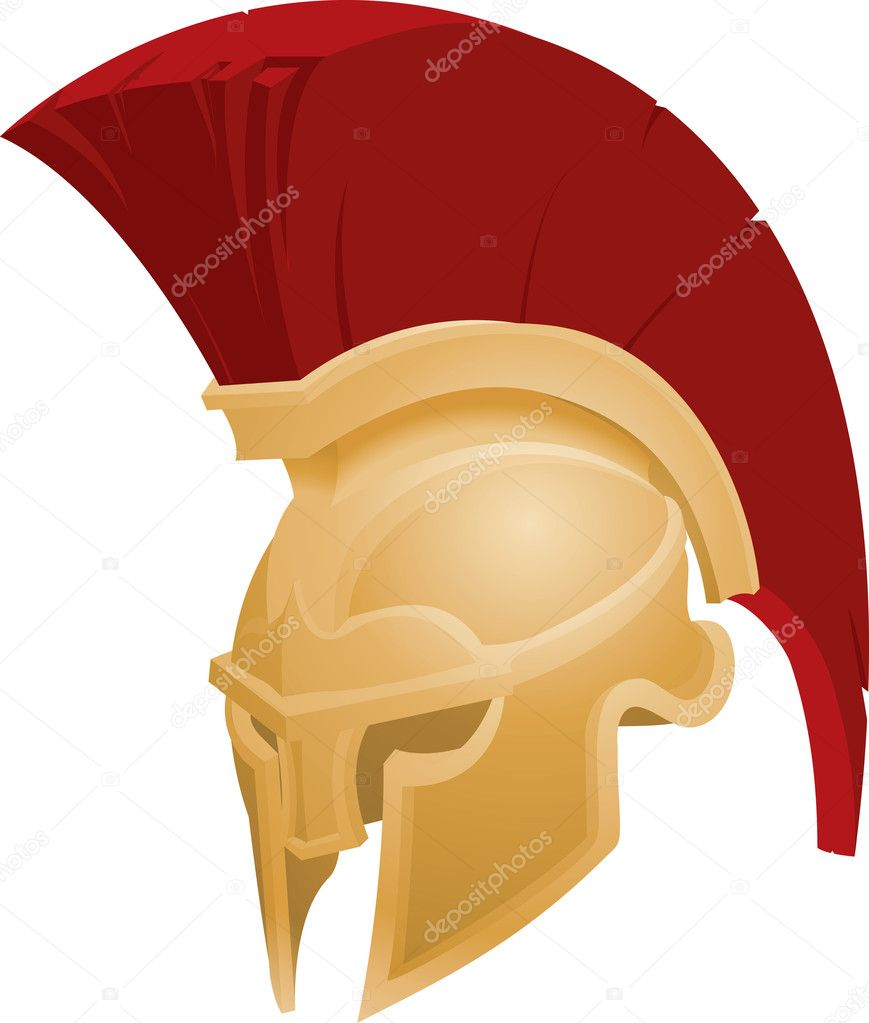 illustration of spartan helmet   stock vector    christos georghiou