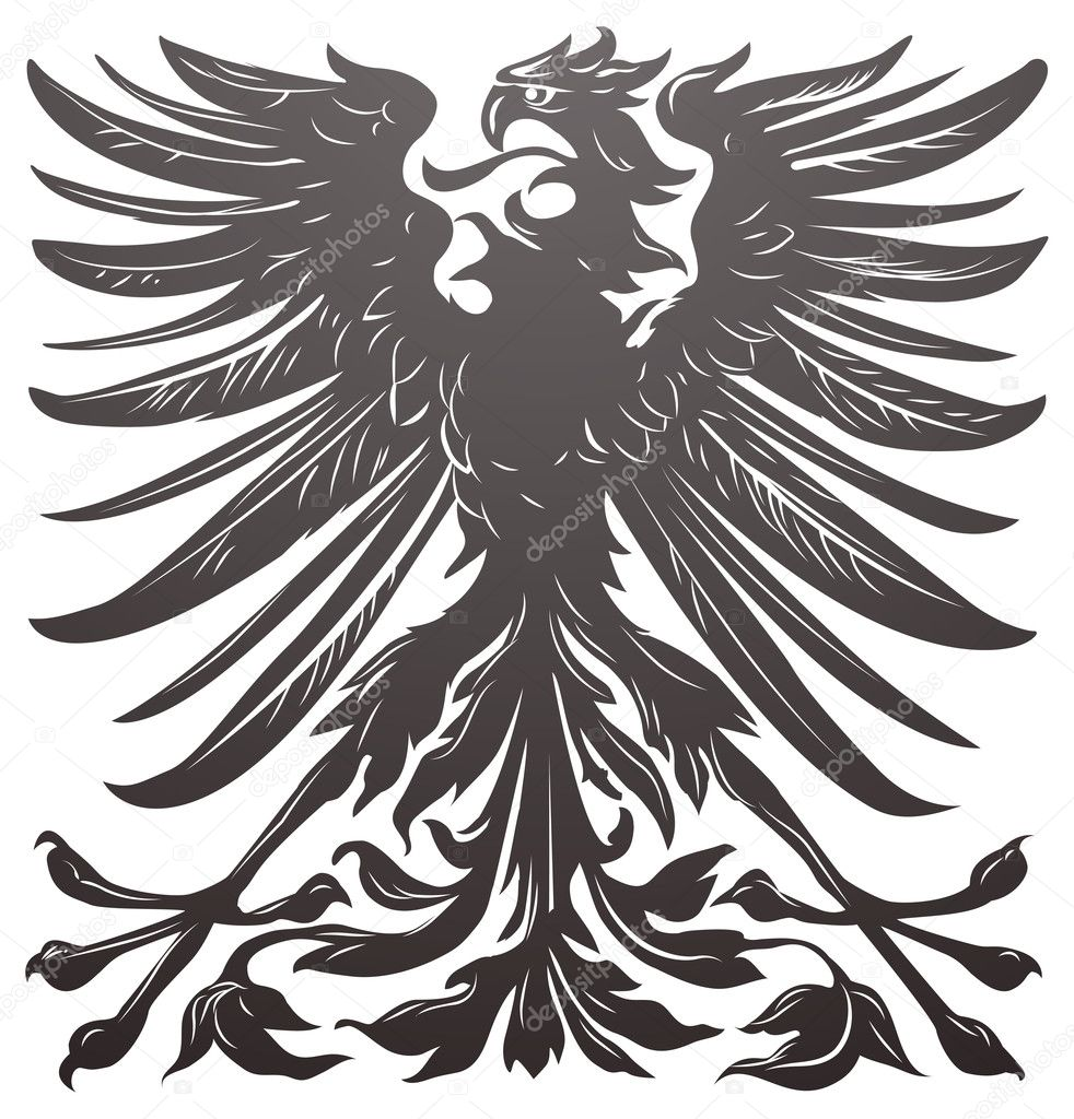 Imperial eagle most resembling that used on the coat of arms of the German empire in the late 19th century.  Stock Vector #6579121