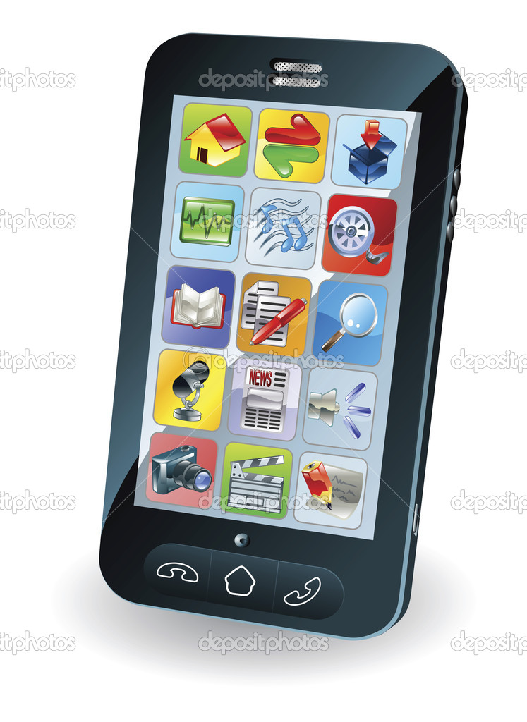 Illustration of a new smart mobile phone — Stock Vector #6579359