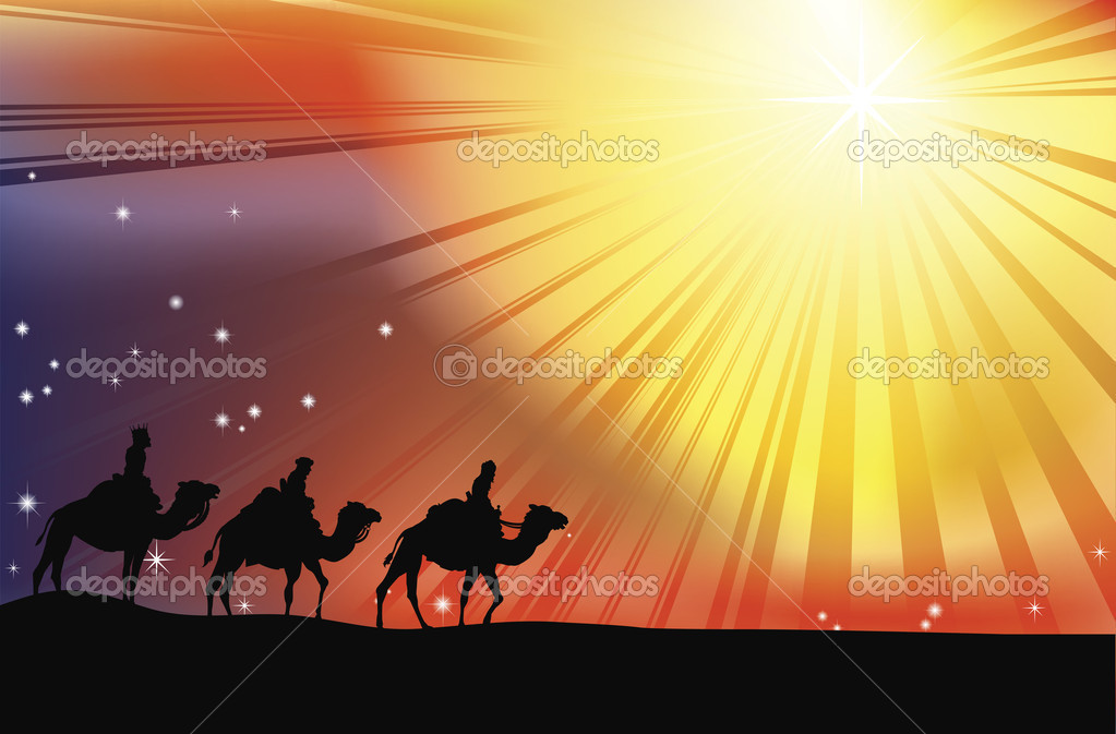 Download the three wise men stock illustration 6579586