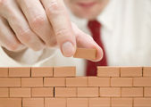 Building a wall — Stock Photo