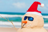 Perfect Sandman With Carrot Nose And Sunnies — Stock Photo