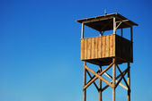 Empty Observing Stand On Beach — Stock Photo