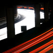 Blurred Lights On Highway At Night — Stock Photo