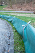 Toad Fence For Amphibean Protection — Stock Photo