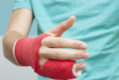 Shaking Bandaged Hand — Stock Photo