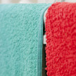 Stock Photo: Colorful Towels Hanging To Dry